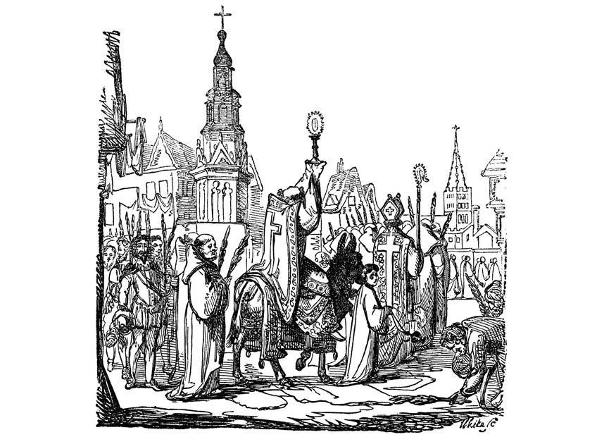 Coloriage Dimanche des Rameaux - img 11237