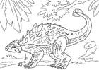 Coloriage dinosaure - ankylosaurus