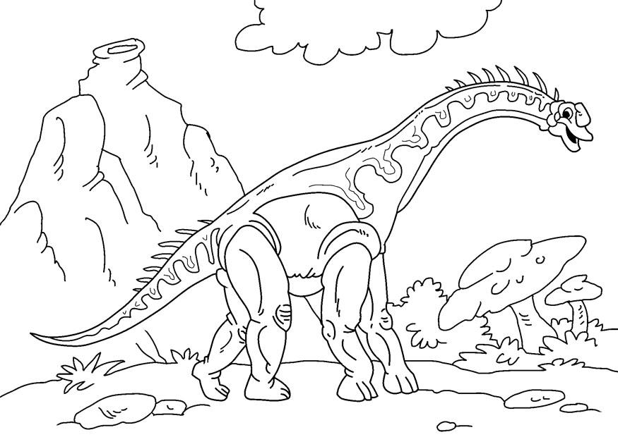 Coloriage dinosaure diplodocus img 27627 - Coloriage diplodocus ...