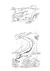 Coloriage dinosaures marins