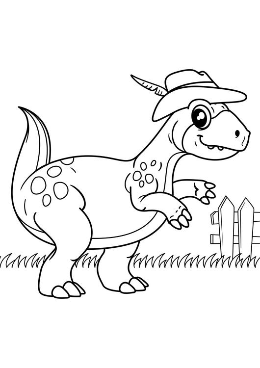 Coloriage Dinosaure Se Promene Coloriages Gratuits A Imprimer Dessin 30977