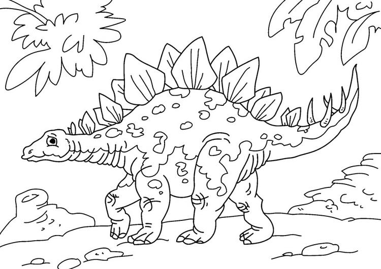 Coloriage Dinosaure Stegosaurus Coloriages Gratuits A Imprimer
