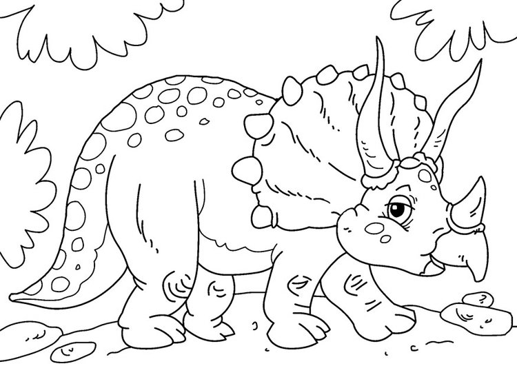 Coloriage dinosaure triceratops img 27631 images - Top coloriage dinosaures ...