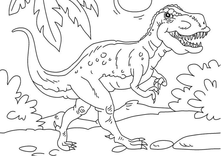 Coloriage Dinosaure Tyrannosaurus Rex Coloriages Gratuits A Imprimer