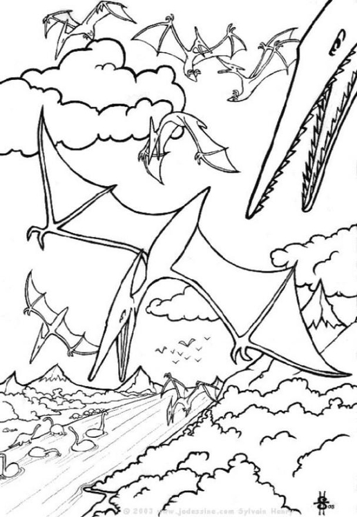 Coloriage dinosaures volants img 6438 images - Top coloriage dinosaures ...