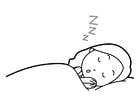Coloriage dormir