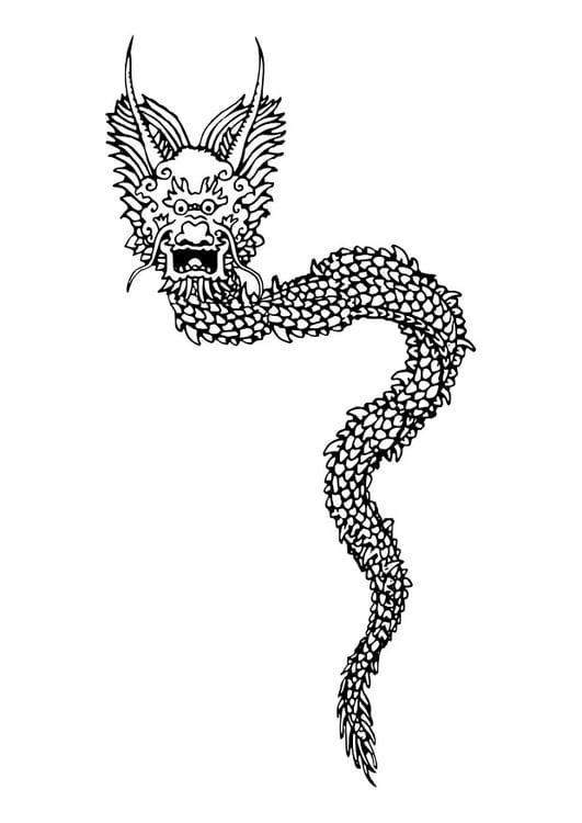 Kleurplaten Dieren Makkelijk Coloriage Dragon Chinois Img 27272