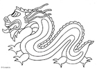 Coloriages dragon chinois