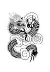 Coloriage dragon chinois