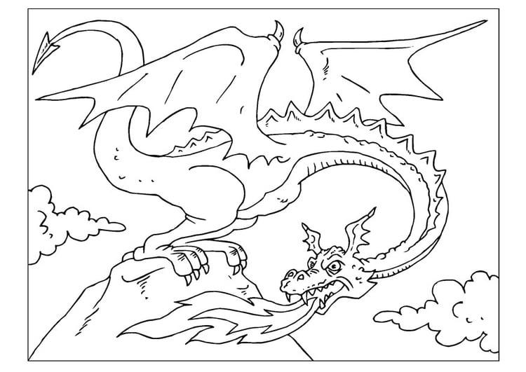 Coloriage Dragon Coloriages Gratuits A Imprimer Dessin 22599