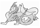 Coloriages dragon marin