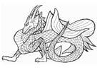 Coloriage dragon marin