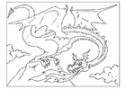 Coloriage dragon