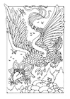 Coloriage dragon volant