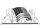 Coloriage drapeau des États-Unis
