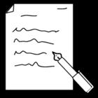Coloriage écrire