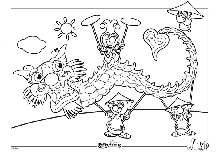 Coloriage Efteling - Chine
