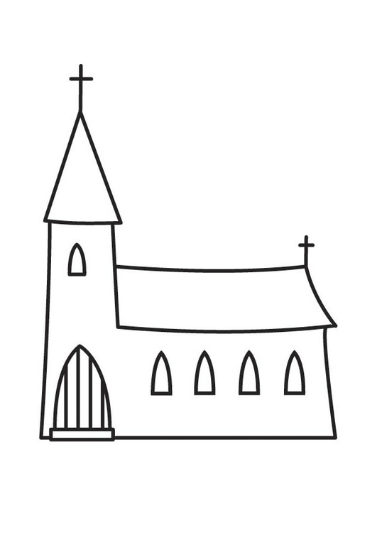Coloriage glise img 23136 - Coloriage eglise ...