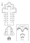 Coloriage église romaine
