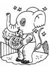Coloriage éléphant d'halloween