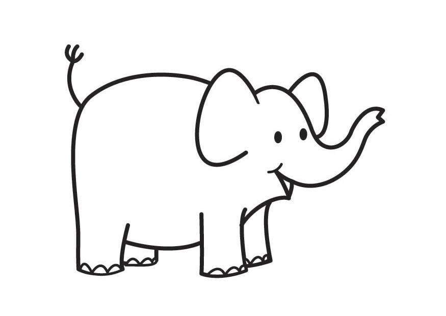 Coloriage el phant img 17686 - Elephant a colorier ...