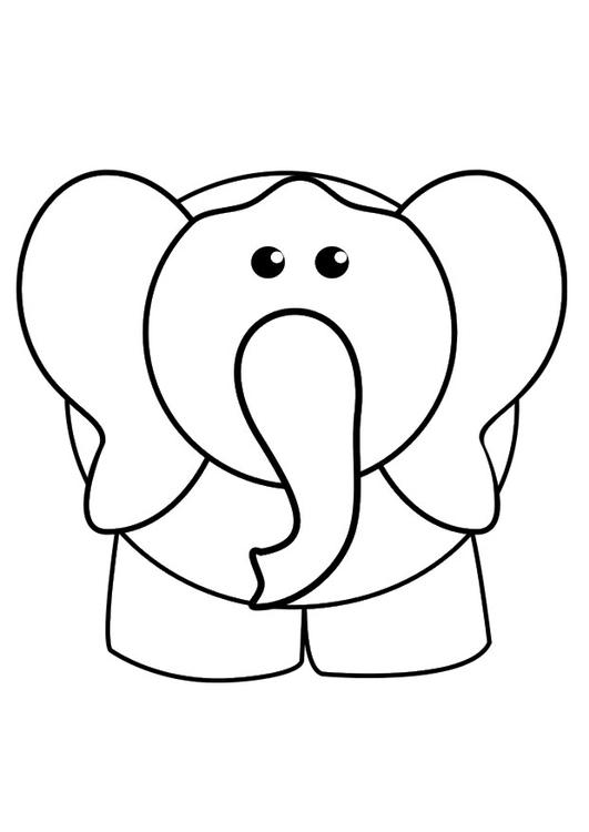 Coloriage Elephant Coloriages Gratuits A Imprimer