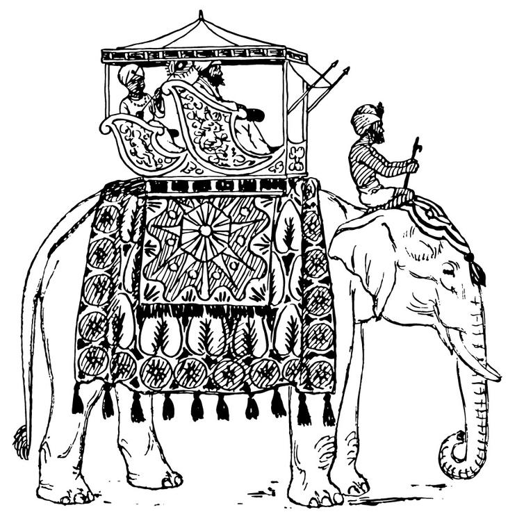 Coloriage Elephant En Inde Coloriages Gratuits A Imprimer Dessin 13357