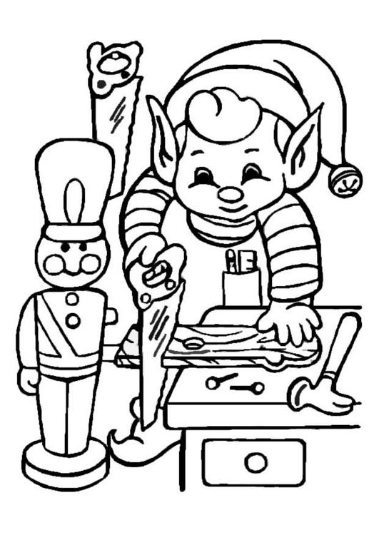 Coloriage elf au travail img 8652 - Coloriage travail ...