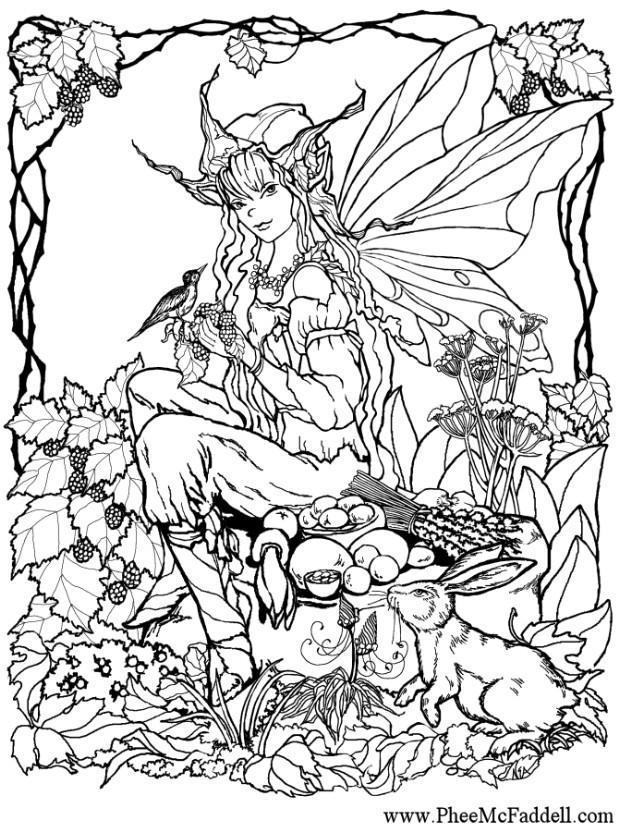 Coloriage elfe dans le ois - img 6906