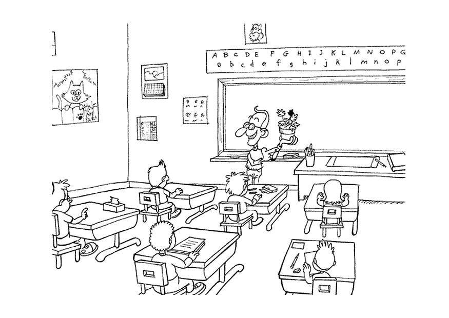 Coloriage en classe img 9498 - Dessin classe ...