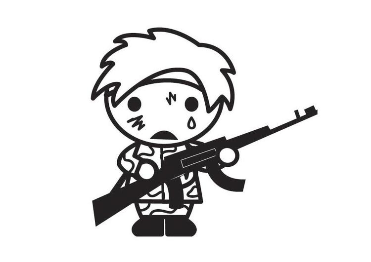Coloriage enfant soldat img 28930 images - Coloriage petit soldat ...