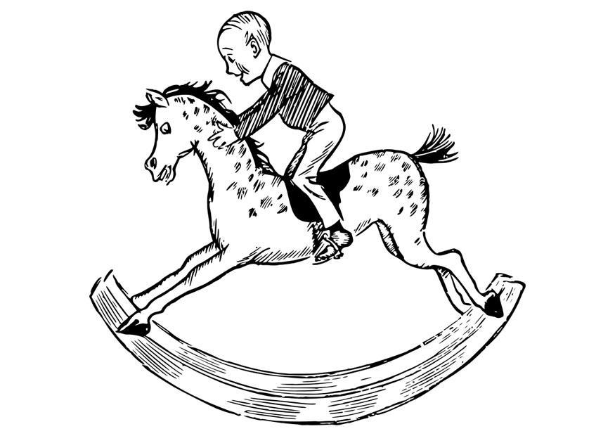 coloriage enfant sur un cheval bascule img 29838 images. Black Bedroom Furniture Sets. Home Design Ideas