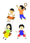 Coloriage Enfants jouant
