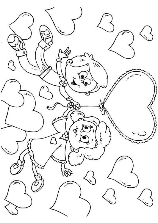 Coloriage Enfants Saint Valentin Img 24621