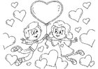 Coloriages enfants Saint-Valentin