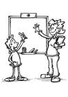 Coloriage enseignant et étudiant