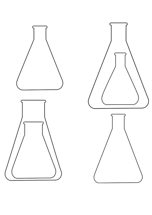 Coloriage Erlenmeyer