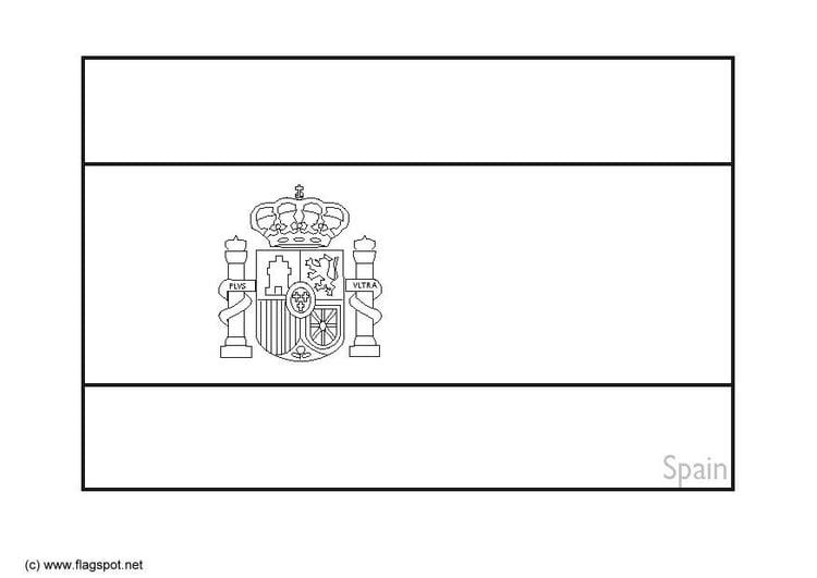 coloriage drapeau espagne drapeau drapeau de lespagne colorier - Drapeau Espagnol A Imprimer