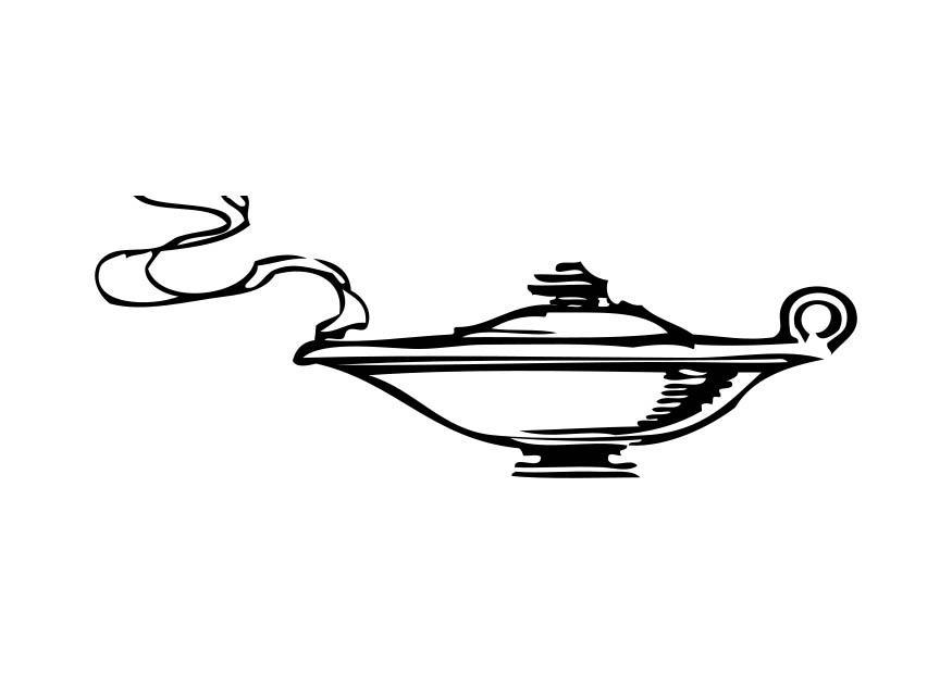 Coloriage esprit dans la lampe img 17327 - Coloriage lampe ...