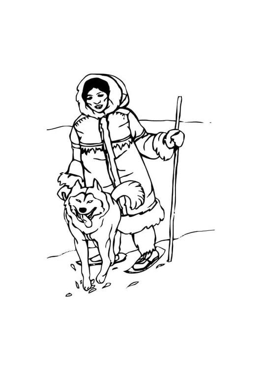 Coloriage esquimau img 10587 images - Esquimau dessin ...
