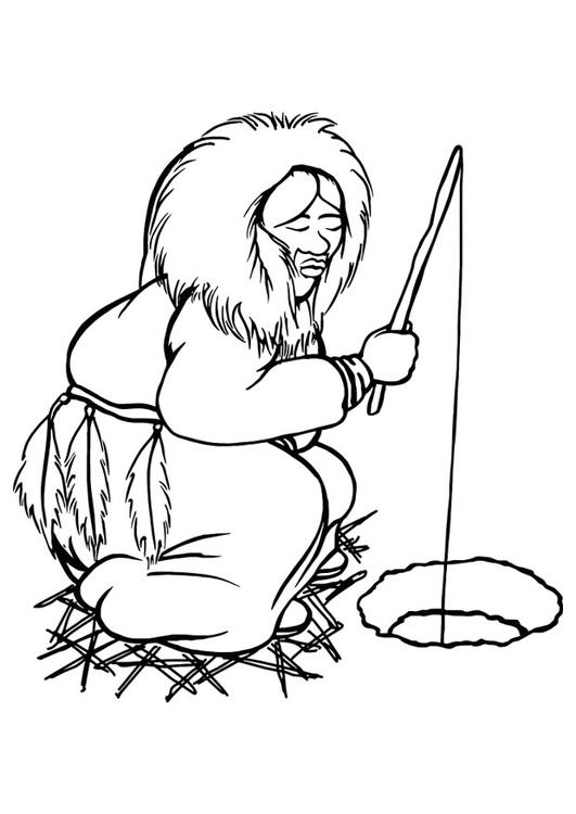 Coloriage esquimau img 29800 images - Esquimau dessin ...