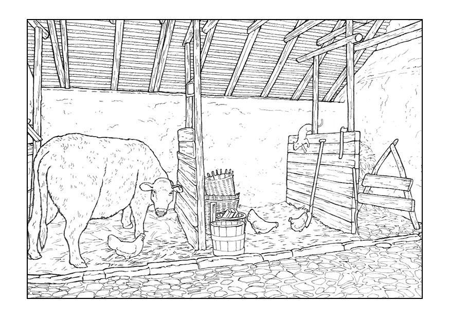 Paarden In De Stal Kleurplaten Coloriage 233 Table Img 9894