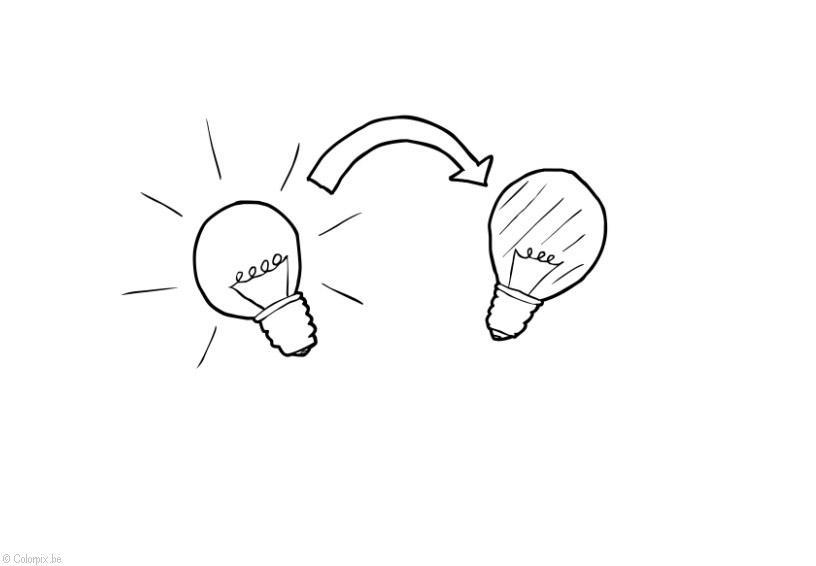 Coloriage éteindre la lumière - économie d'énergie - img 28417