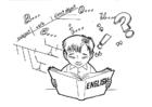 Coloriage étudier l'anglais