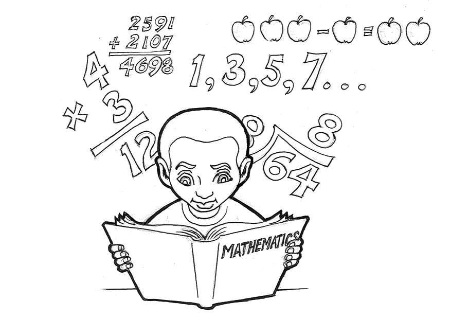 Assez Coloriage étudier les mathématiques - img 9241 GS25