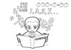 Coloriage étudier les mathématiques