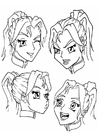 Coloriage expressions - émotions