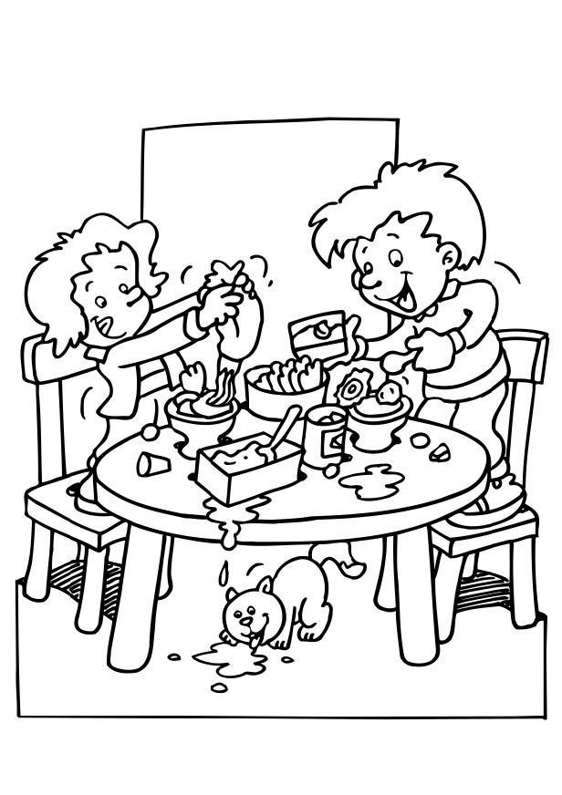 Coloriage faire manger img 6493 - Dessin manger ...