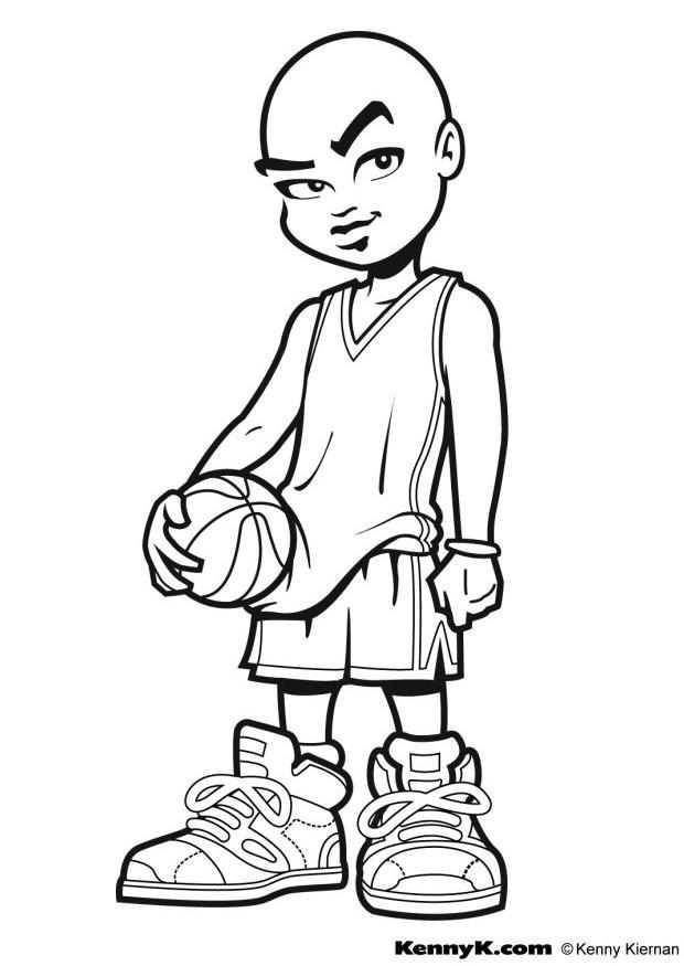 Coloriage faire du basketball