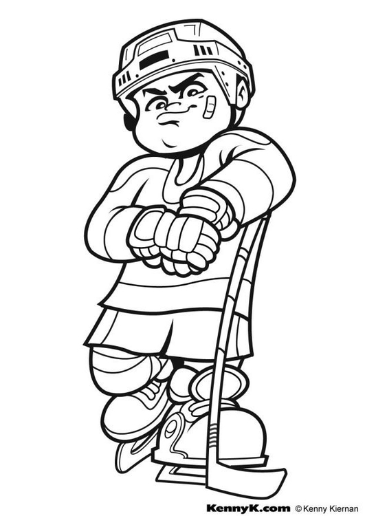 Coloriage faire du hockey img 7027 images - Dessin hockey ...